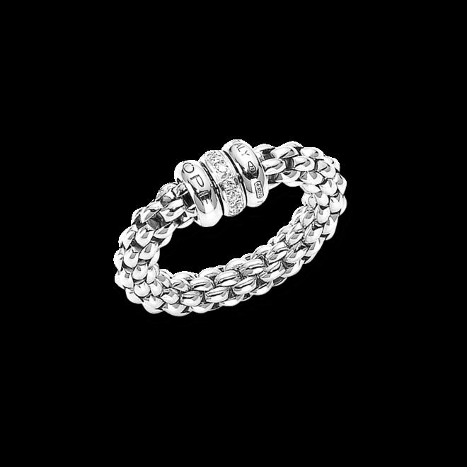 Ring Fope Flex'it Solo aus 750 Weißgold mit mehreren Brillanten (0,1 Karat) Größe L (58-61) bei Brogle