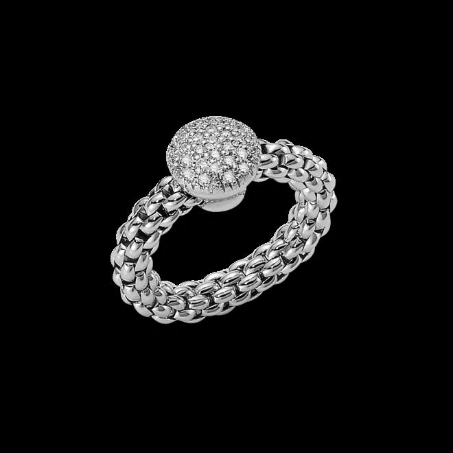 Ring Fope Flex'it Solo aus 750 Weißgold mit mehreren Brillanten (0,47 Karat) Größe M (54-57)