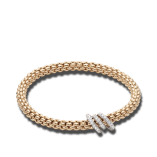 Fope Armband Flex'it Solo Roségold 652B-PAVES_RG