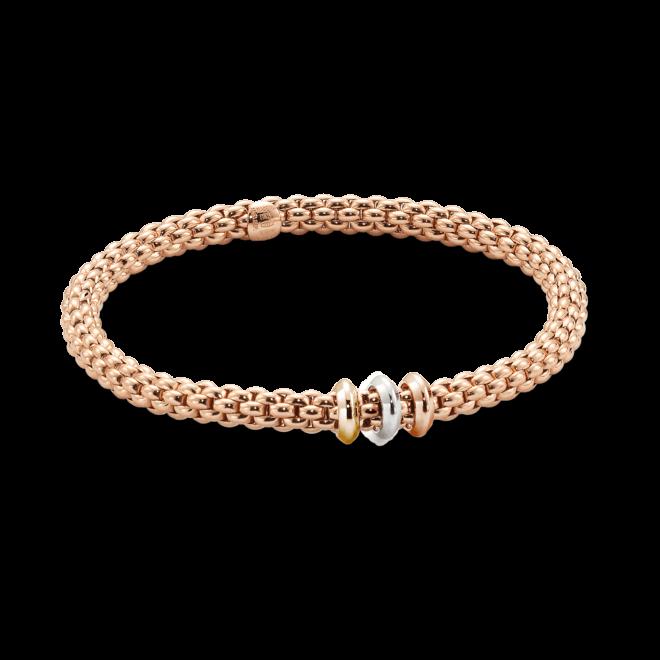 Armband Fope Flex'it Solo Roségold aus 750 Roségold, 750 Gelbgold und 750 Weißgold Größe L