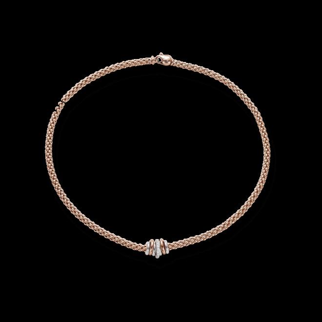 Halskette Fope Flex'it Solo Roségold aus 750 Roségold mit mehreren Brillanten (0,41 Karat)