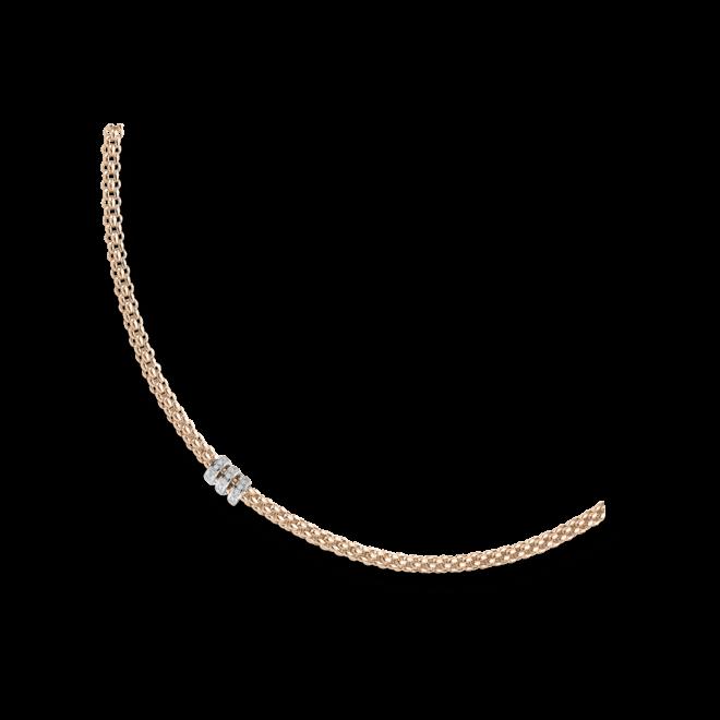 Halskette Fope Flex'it Solo Roségold aus 750 Roségold mit mehreren Brillanten (0,3 Karat)