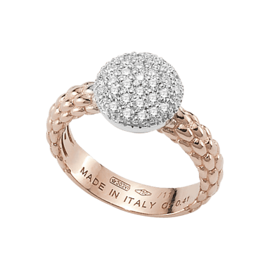 Fope Ring Flex'it Solo Roségold AN648-PAVE_RG