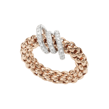 Fope Ring Flex'it Solo Roségold AN652-PAVES_RG