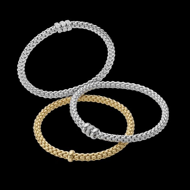 Armband Fope Flex'it Solo Weißgold aus 750 Weißgold mit mehreren Diamanten (0,3 Karat) Größe S