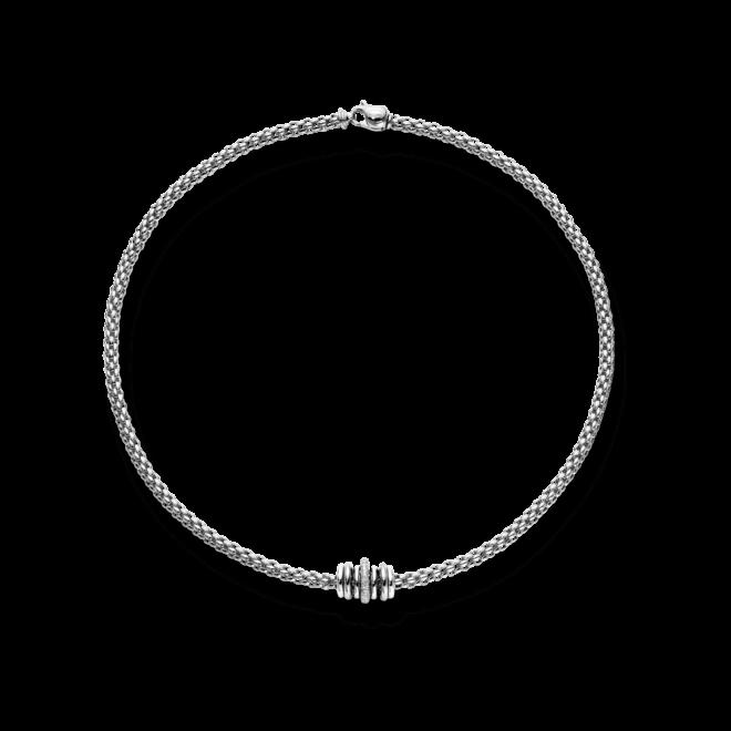 Halskette Fope Flex'it Solo Weißgold aus 750 Weißgold mit mehreren Brillanten (0,41 Karat)