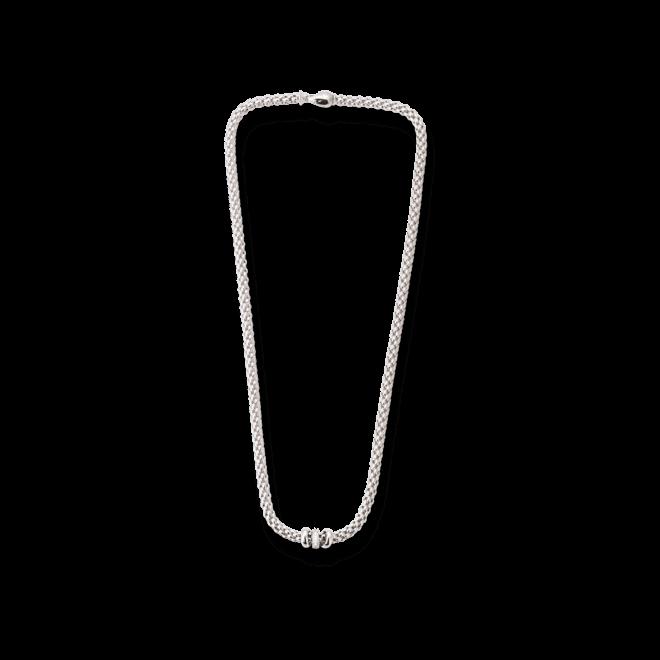 Halskette Fope Flex'it Solo Weißgold aus 750 Weißgold mit mehreren Brillanten (0,1 Karat)
