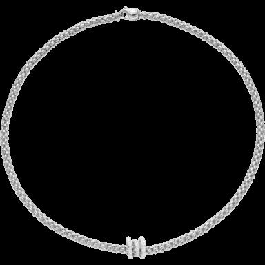 Fope Halskette Flex'it Solo Weißgold 652C-PAVE_WG