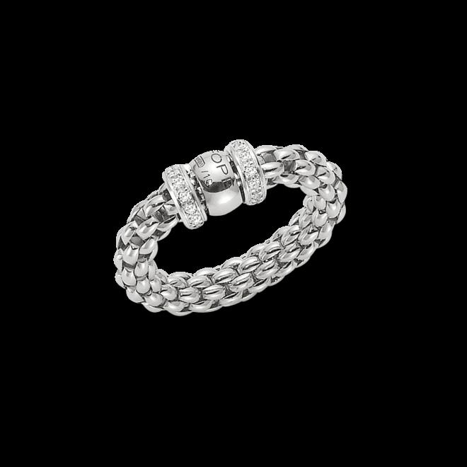 Ring Fope Flex'it Solo Weißgold aus 750 Weißgold mit mehreren Brillanten (0,2 Karat) Größe M (54-57)