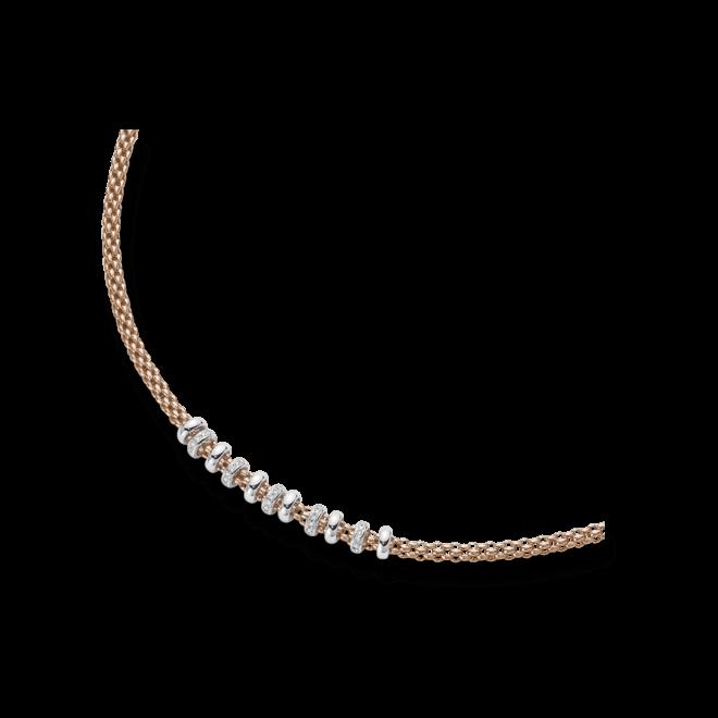 Halskette Fope Flex'it Solo aus 750 Roségold und 750 Weißgold mit mehreren Brillanten (0,5 Karat)