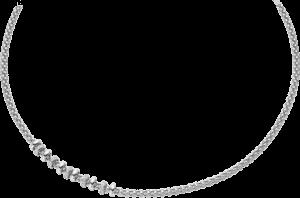 Halskette Fope Flex'it Solo aus 750 Weißgold mit mehreren Brillanten (0,5 Karat)