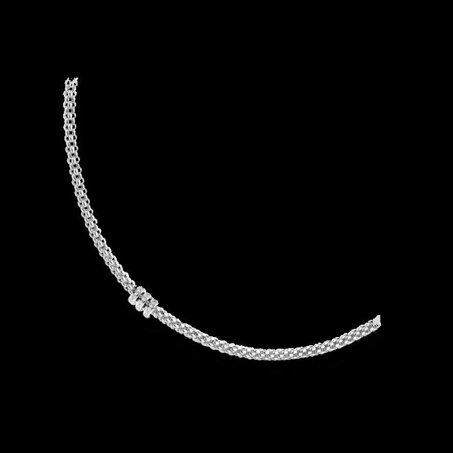Halskette Fope Flex'it Solo aus 750 Weißgold mit mehreren Brillanten (0,3 Karat)