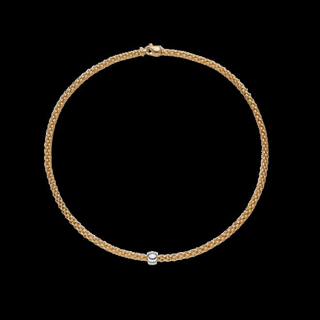 Halskette Fope Solo aus 750 Gelbgold und 750 Weißgold