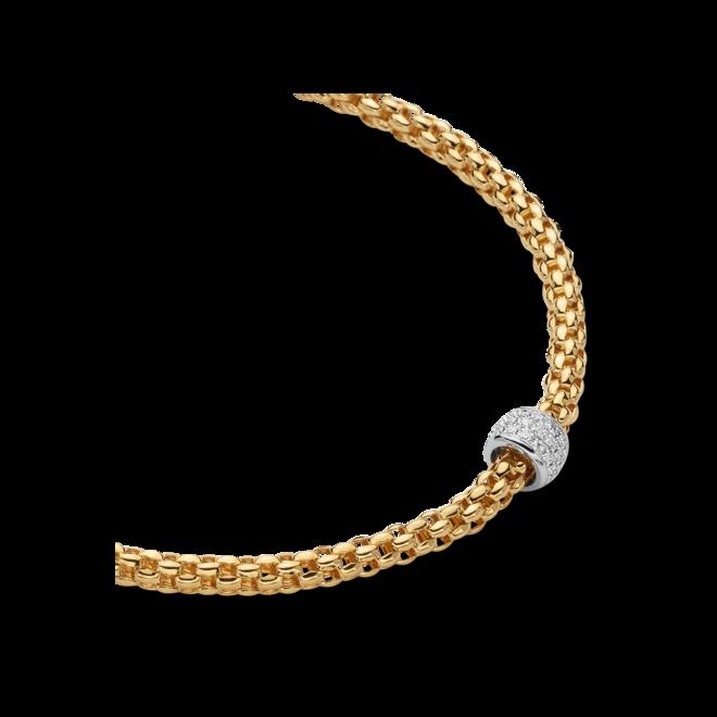 Halskette Fope Solo aus 750 Gelbgold und 750 Weißgold mit mehreren Brillanten (0,29 Karat) bei Brogle