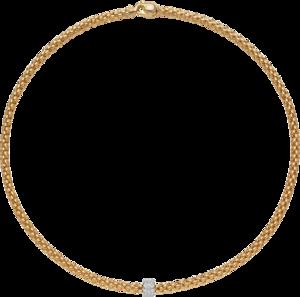 Halskette Fope Solo aus 750 Gelbgold und 750 Weißgold mit mehreren Brillanten (0,29 Karat)