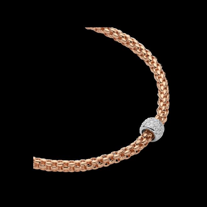 Halskette Fope Solo aus 750 Roségold und 750 Weißgold mit mehreren Brillanten (0,29 Karat) bei Brogle