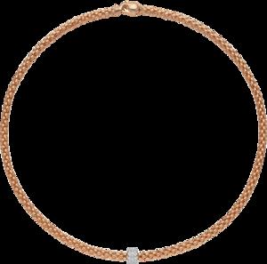 Halskette Fope Solo aus 750 Roségold und 750 Weißgold mit mehreren Brillanten (0,29 Karat)