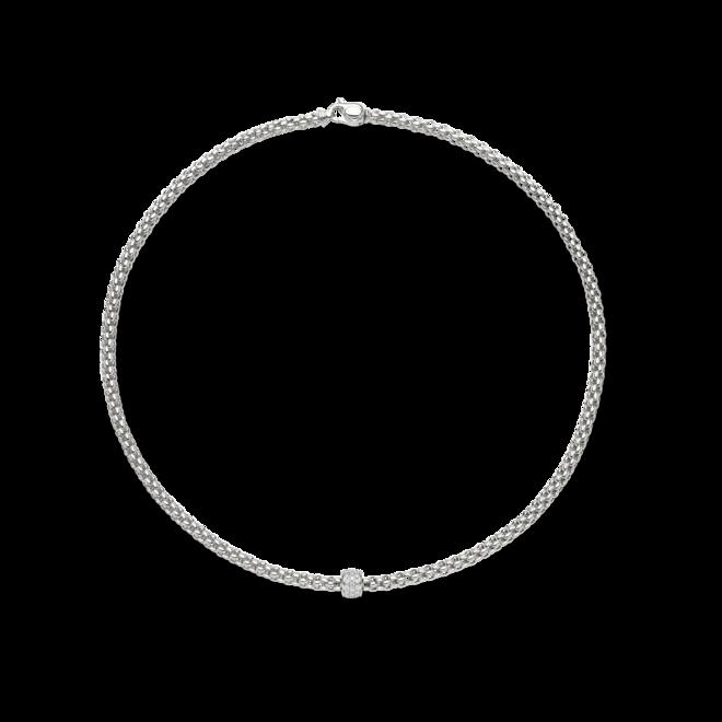 Halskette Fope Solo aus 750 Weißgold mit mehreren Brillanten (0,29 Karat)