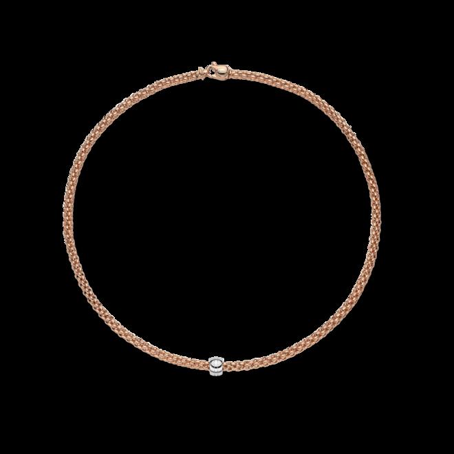 Halskette Fope Solo aus 750 Roségold und 750 Weißgold