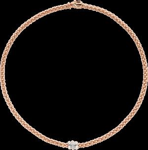Halskette Fope Flex'it Solo aus 750 Roségold mit mehreren Brillanten (0,17 Karat)