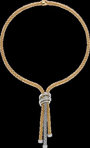 Halskette Fope Solo Mialuce aus 750 Gelbgold und 750 Weißgold mit mehreren Brillanten (0,97 Karat)