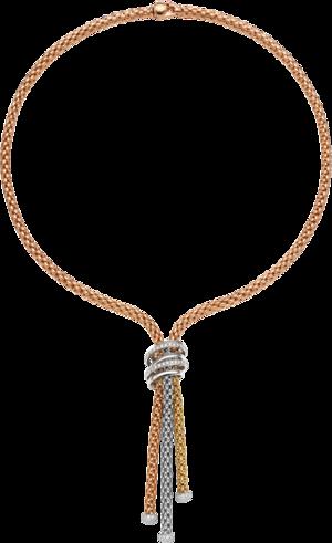 Halskette Fope Solo Mialuce aus 750 Roségold, 750 Weißgold und 750 Gelbgold mit mehreren Brillanten (0,97 Karat)