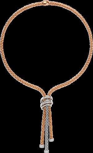 Halskette Fope Solo Mialuce aus 750 Roségold und 750 Weißgold mit mehreren Brillanten (0,97 Karat)