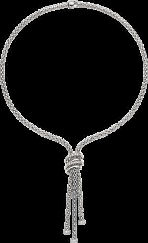 Halskette Fope Solo Mialuce aus 750 Weißgold mit mehreren Brillanten (0,97 Karat)