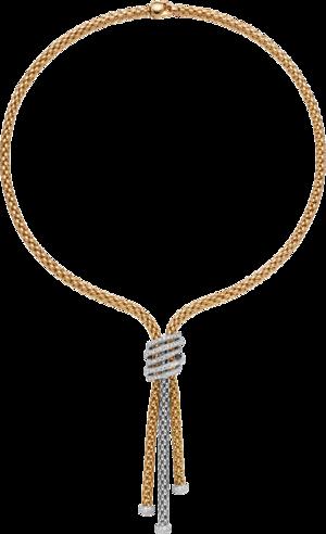 Halskette Fope Solo Mialuce aus 750 Gelbgold und 750 Weißgold mit mehreren Brillanten (1,63 Karat)
