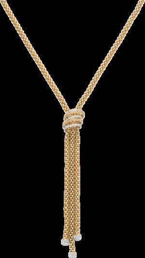 Halskette Fope Solo Mialuce aus 750 Gelbgold und 750 Weißgold mit mehreren Brillanten (1,66 Karat)