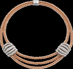 Halskette Fope Solo Mialuce aus 750 Roségold und 750 Weißgold mit mehreren Brillanten (10,47 Karat)