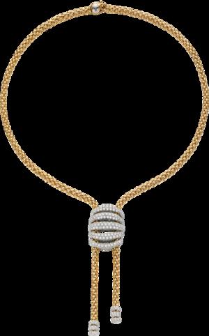 Halskette Fope Solo Mialuce aus 750 Gelbgold und 750 Weißgold mit mehreren Brillanten (6,4 Karat)