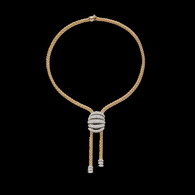 Halskette Fope Solo Mialuce aus 750 Gelbgold und 750 Weißgold mit mehreren Brillanten (6,4 Karat) bei Brogle