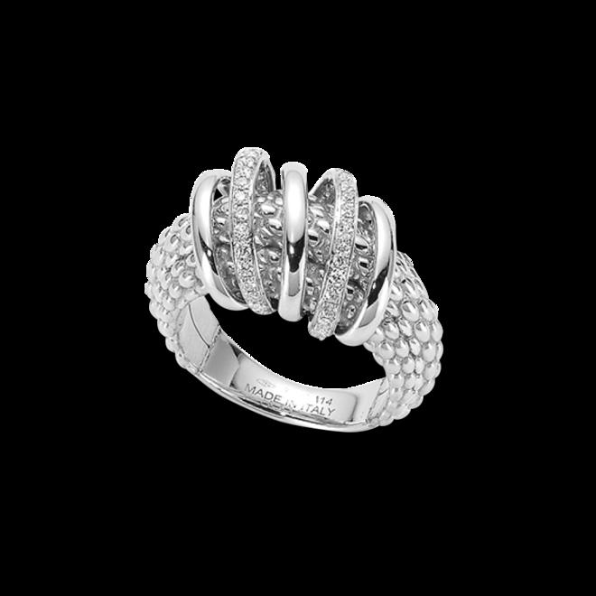 Ring Fope Solo Mialuce aus 750 Weißgold mit mehreren Brillanten (0,3 Karat)