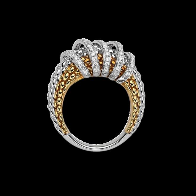 Ring Fope Solo Mialuce aus 750 Roségold, 750 Weißgold und 750 Gelbgold mit mehreren Brillanten (0,7 Karat) bei Brogle