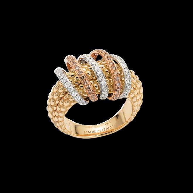 Ring Fope Solo Mialuce aus 750 Gelbgold mit mehreren Brillanten (0,72 Karat) bei Brogle