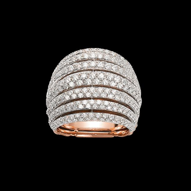 Ring Fope Solo Mialuce aus 750 Roségold mit mehreren Brillanten (2,22 Karat)