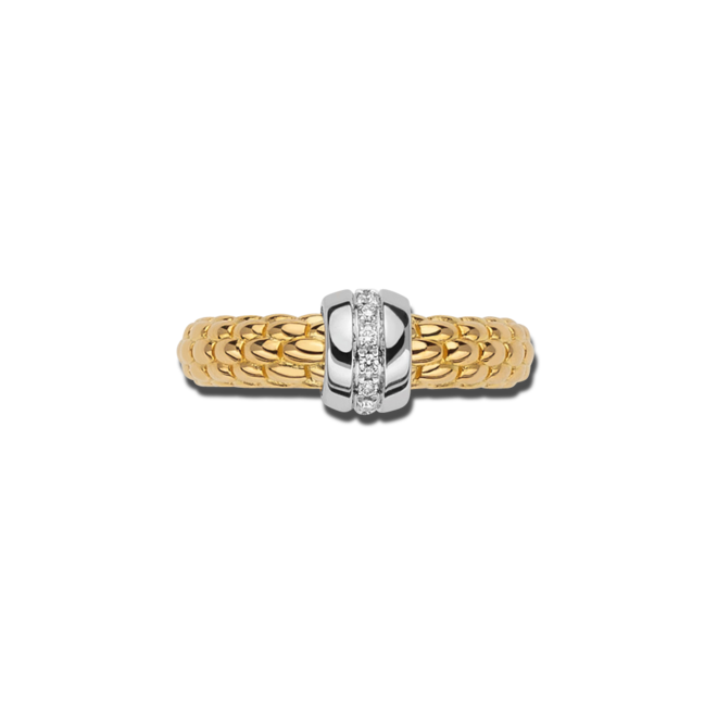 Ring Fope Solo aus 750 Gelbgold und 750 Weißgold mit mehreren Brillanten (0,07 Karat) bei Brogle