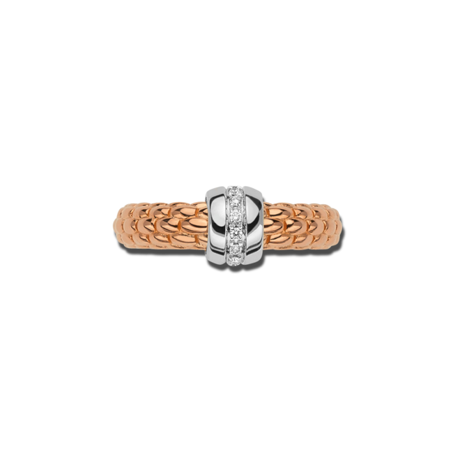 Ring Fope Solo aus 750 Roségold und 750 Weißgold mit mehreren Brillanten (0,07 Karat) bei Brogle