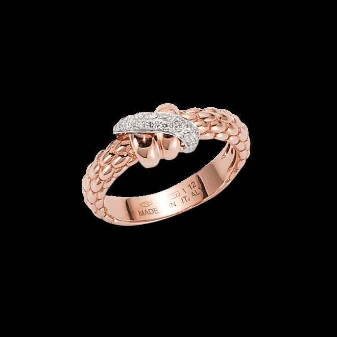 Ring Fope Flex'it Solo aus 750 Roségold mit mehreren Brillanten (0,15 Karat)