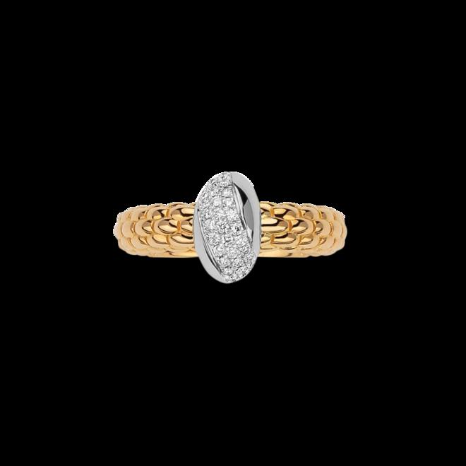 Ring Fope Solo aus 750 Gelbgold und 750 Weißgold mit mehreren Brillanten (0,24 Karat) bei Brogle