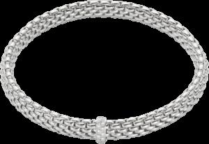 Armband Fope Flex'it Vendôme aus 750 Weißgold mit 12 Brillanten (0,1 Karat) Größe L