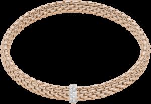 Armband Fope Flex'it Vendôme aus 750 Roségold mit 12 Brillanten (0,1 Karat) Größe M