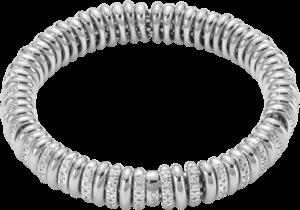 Armband Fope Flex'it Vendôme aus 750 Weißgold mit mehreren Brillanten (1,66 Karat) Größe M