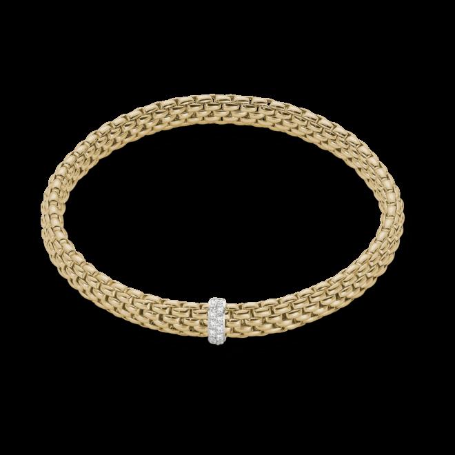 Armband Fope Flex'it Vendôme aus 750 Gelbgold mit 12 Brillanten (0,1 Karat) Größe L
