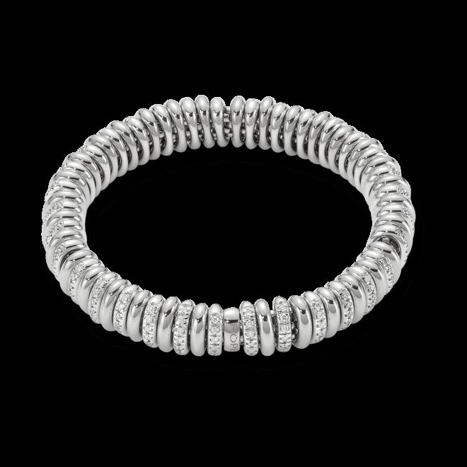 Armband Fope Flex'it Vendôme aus 750 Weißgold mit mehreren Brillanten (1,56 Karat) Größe S