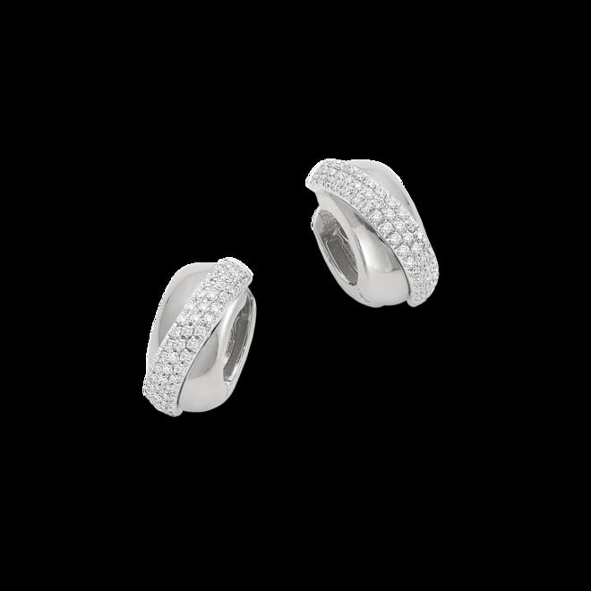 Creole Fope Flex'it Vendôme aus 750 Weißgold mit mehreren Diamanten (2 x 0,345 Karat)