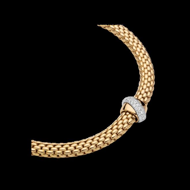 Halskette Fope Flex'it Vendôme aus 750 Gelbgold und 750 Weißgold mit mehreren Brillanten (0,2 Karat) bei Brogle