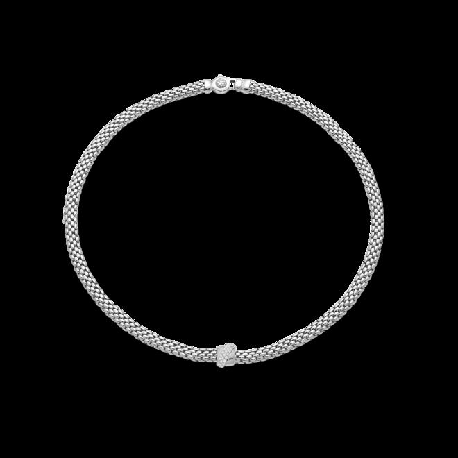 Halskette Fope Flex'it Vendôme aus 750 Weißgold mit mehreren Brillanten (0,2 Karat)