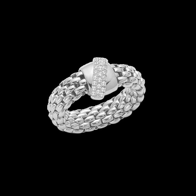Ring Fope Flex'it Vendôme aus 750 Weißgold mit mehreren Brillanten (0,2 Karat) Größe S (49-53) bei Brogle